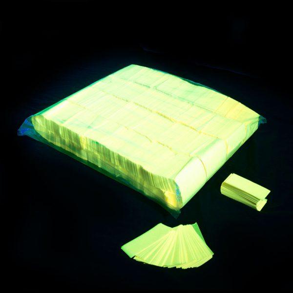 Confeti rectangular fluo amarillo