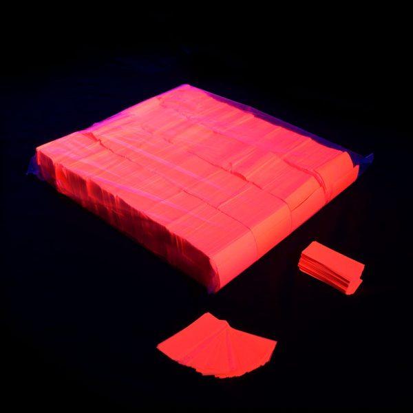 Confeti rectangular fluo naranja