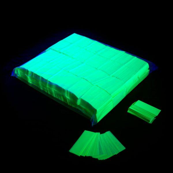 Confeti rectangular fluo verde