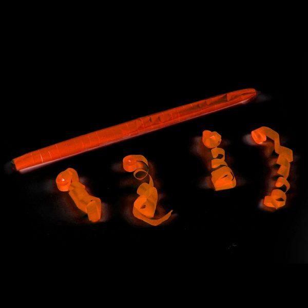 Serpentinas seda 15m fluo naranja