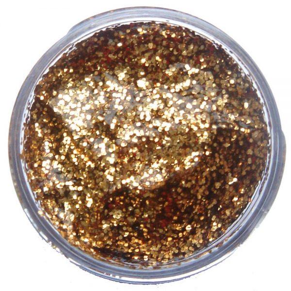 Pastilla maquillaje gel color oro rojo